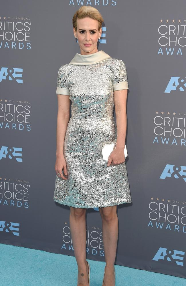 Sarah Paulson attends the 21st Annual Critics' Choice Awards on January 17, 2016 in California. Picture: AFP