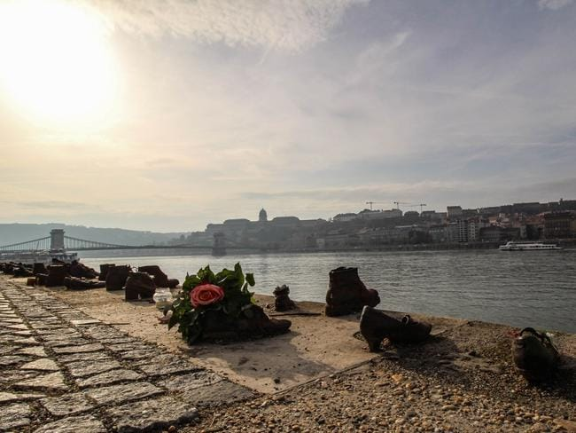 The Shoes on the Danube Bank, a moving memorial to Jewish Hungarians murdered during World War II, provided a sobering change of pace. Picture: David Louie