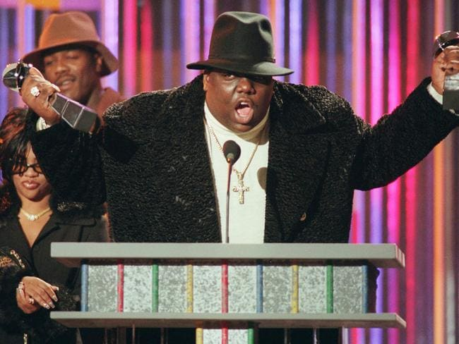 The late Notorious B.I. G aka Biggie Smalls, pictured in 1995. Picture: AP