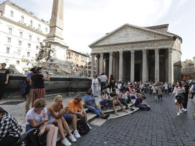 "Tourists will need to watch their behaviour in the Eternal City. Picture""AP/Gregorio Borgia"