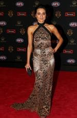 Sarah Edwards (Shaun Grigg of Richmond) on the Brownlow red carpet.