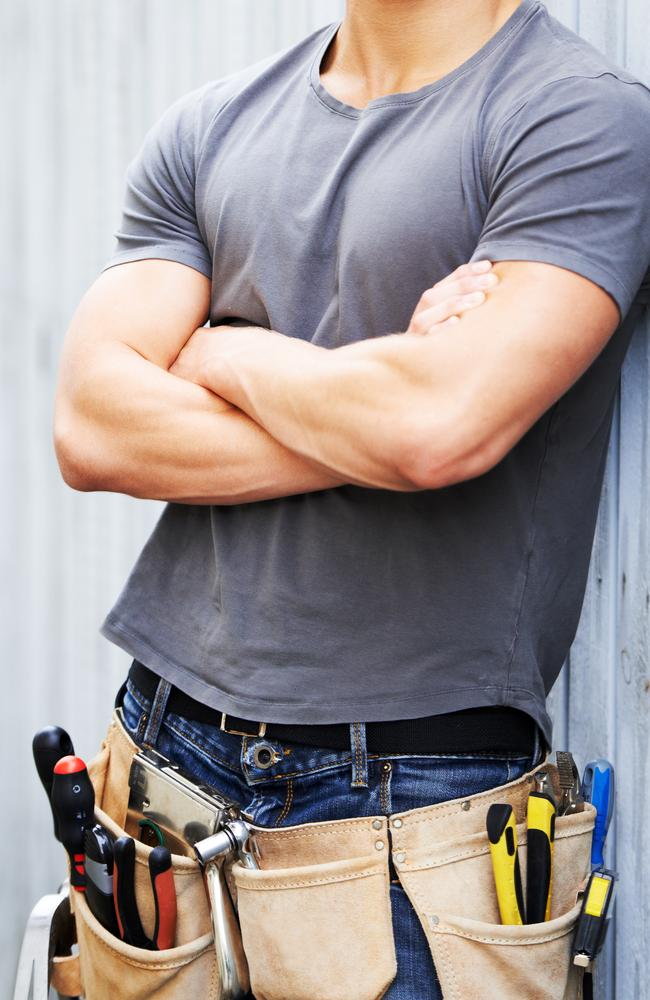 Tradies are all mouth when you walk past them in the street, but pussy cats in the bedroom. Picture: istock