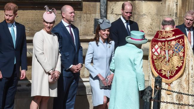 Meghan was notably absent from the family line-up. Picture: Getty