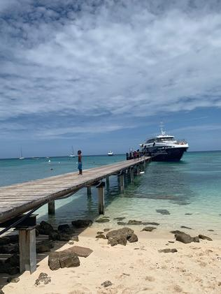 The ferry pier at Amedee Island in New Caledonia. Picture: Mercedes Maguire