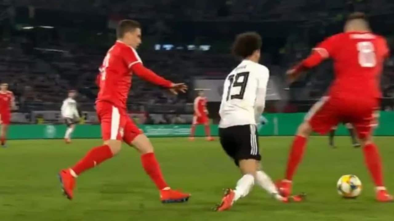 Leroy Sane escaped serious injury after this horror challenge.