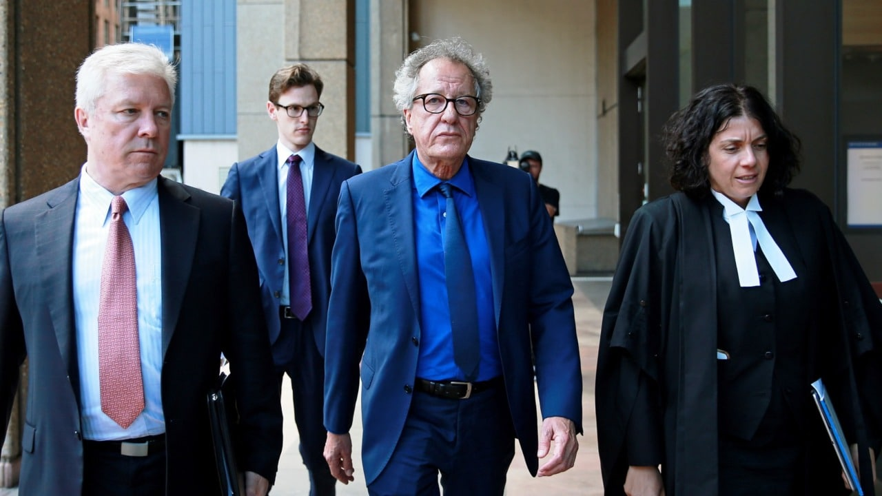 Geoffrey Rush's lawyer says misconduct allegations 'smashed' his reputation