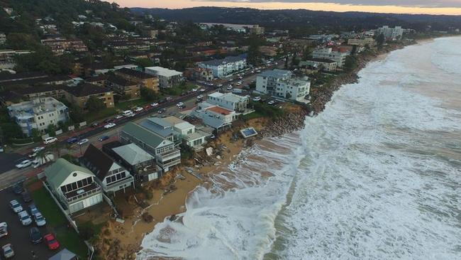 Collaroy waterfront damage as photographed by UNSW Water Research Laboratory on Monday. Picture: UNSW Water Research Laboratory