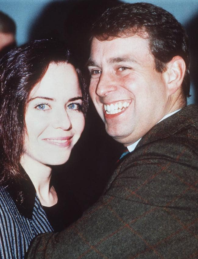 Prince Andrew with girlfriend and actor Koo Stark in the early 1980s.