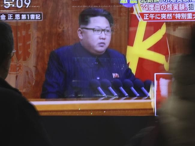 Nuclear aspirations ... North Korean leader Kim Jong-un has been open about his love of nuclear weapons. Picture: AP