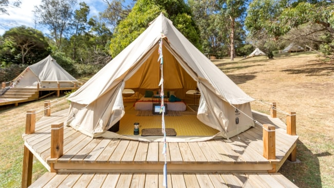 Why camp when you can glamp? Image: Supplied