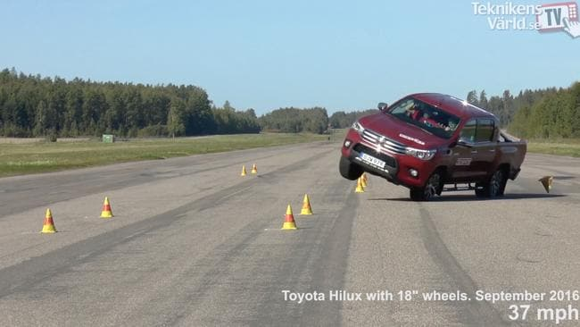 A Toyota HiLux SR5 tested by Swedish magazine Technikens Varld. Picture: Supplied.