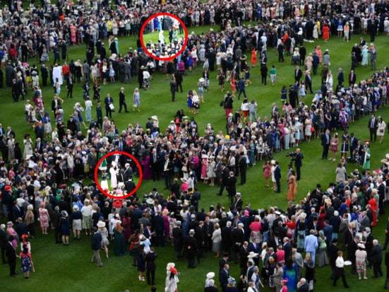Kate Middleton and the Queen who were at the garden party. Picture: AFP