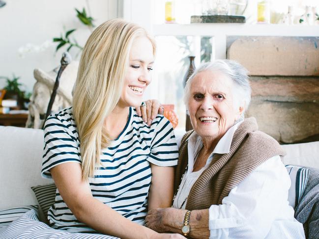 Margaret Fulton with granddaughter Kate Gibbs.