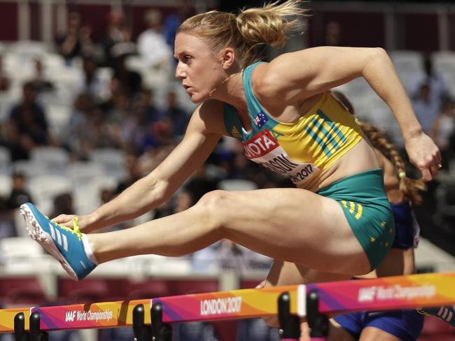 Sally Pearson competes in London in 2017. Picture: AP