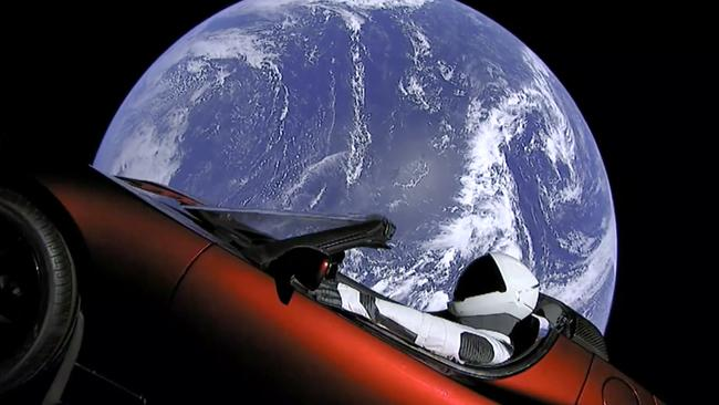 Elon Musk's red Tesla sports car was launched into space last week.