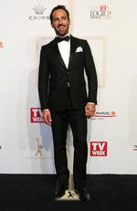 Alex Dimitriades arrives on the red carpet at the 59th annual TV Week Logie Awards on April 23, 2017 at the Crown Casino in Melbourne, Australia. Picture: Julie Kiriacoudis