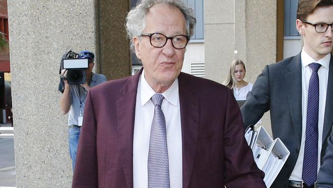 "Actor Geoffrey Rush, who is suing The Daily Telegraph for defamation after it reported his co-star in a Sydney Theatre Company production of King Lear lodged a complaint with the STC over Mr Rush's ""inappropriate behaviour"". Picture: Richard Dobson"