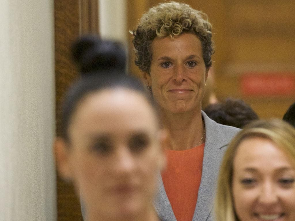 """""""This decision is a reminder that no one is above the law,"""" Andrea Constand, the victim in Cosby's case, said. Picture: Getty Images/AFP"""