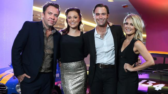 Acting world ... Brendan Cowell, Ella Scott-Lynch, Matthew Le Nevez and Natalie Bassingthwaighte from Brock. Picture: Richard Dobson