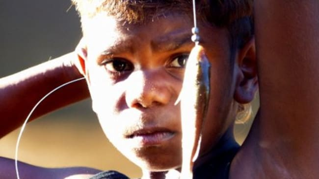 An aboriginal boy photographed by Ray Martin in Fitzroy Crossing.