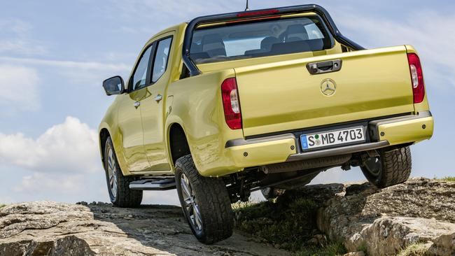 The Mercedes-Benz X-Class has a wider track than the Navara on which it is based. Picture: Supplied