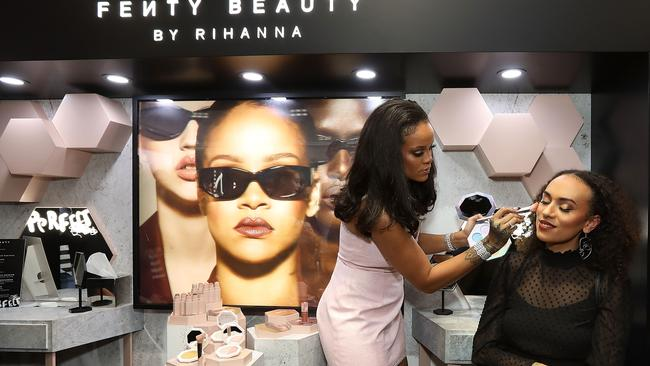The singer uses the name Fenty to sell cosmetics, lingerie and sneakers. Picture: Caroline McCredie/Getty Images for Fenty Beauty by Rihanna