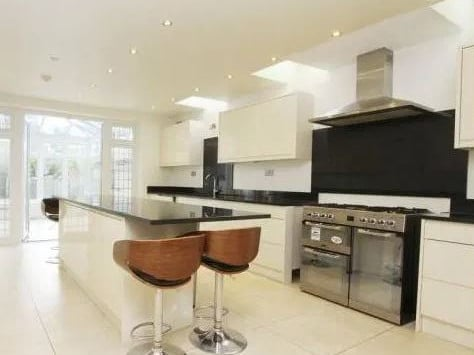 The kitchen is bright and modern.