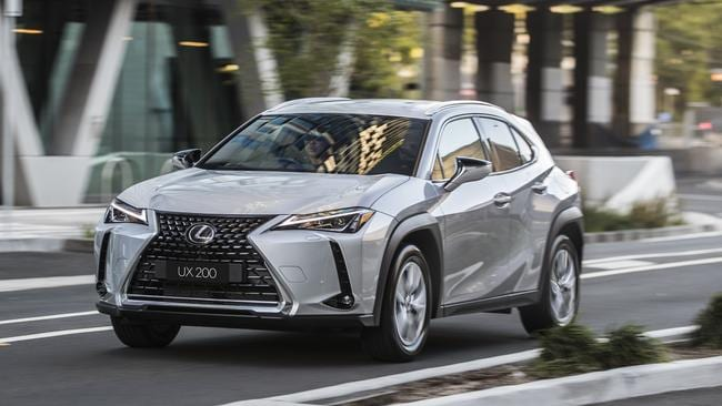 The Lexus UX is priced from about $51,000.