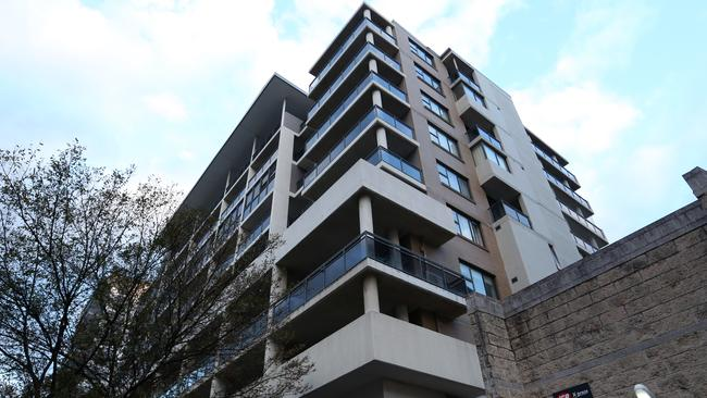 Residents of the high-rise in Mascot, in Sydney's inner-south, were evacuated as a precaution after cracks were discovered in the building last week. Picture: Danny Casey