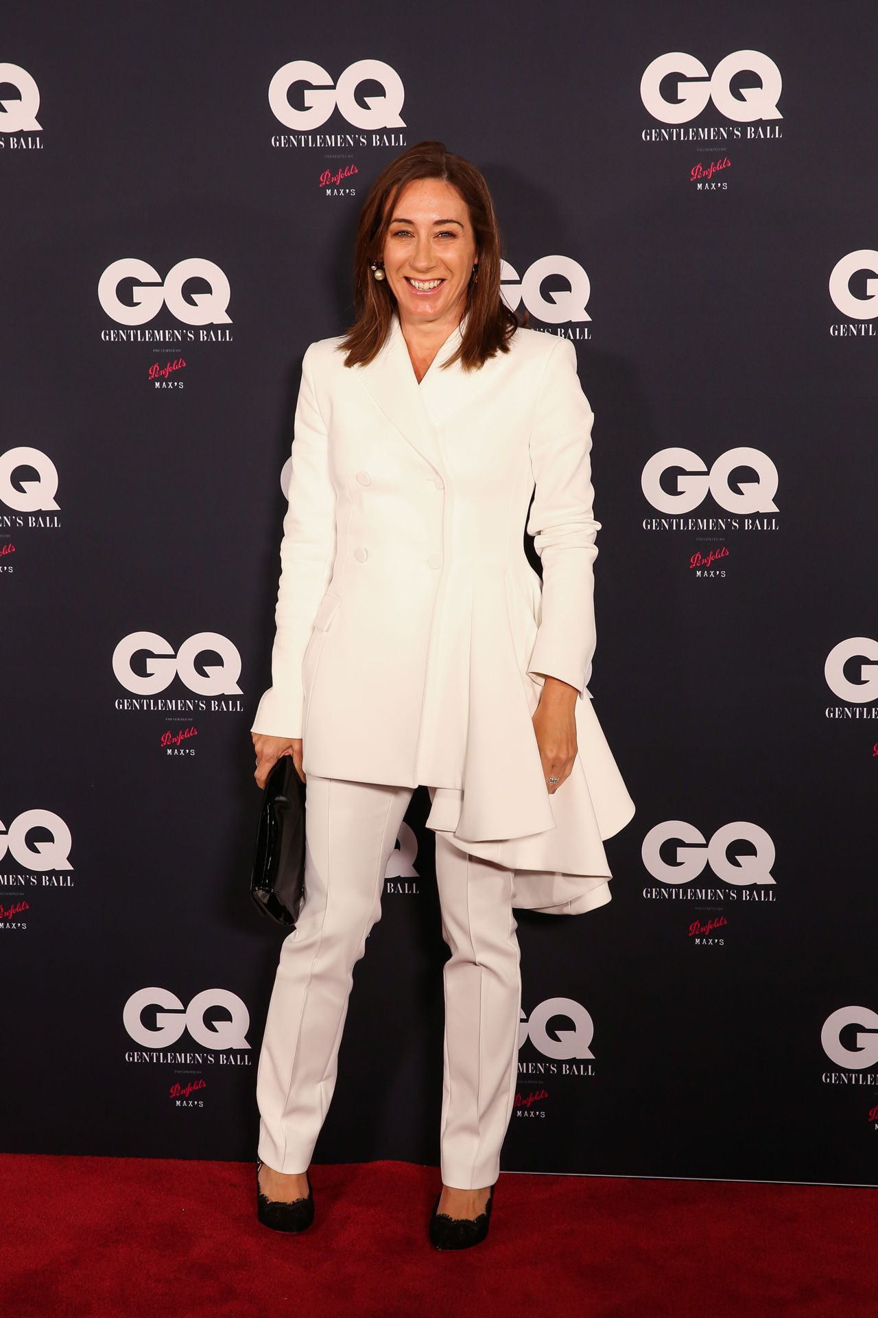 Vogue editor-in-chief Edwina McCann attends the GQ Gentlemen's Ball. Image credit: Supplied