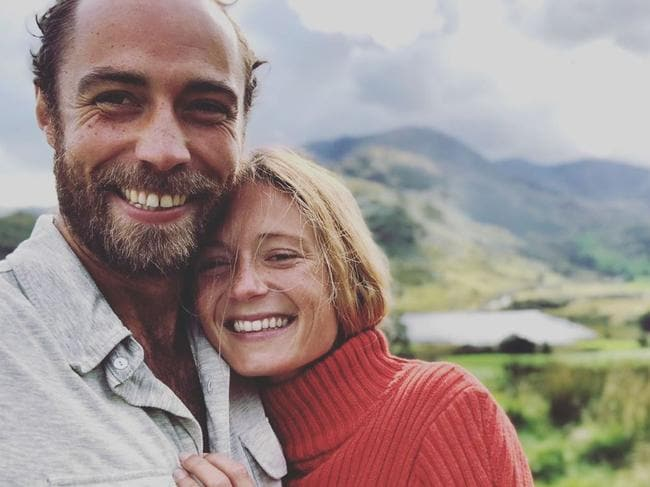 James Middleton and Alizee Thevenet engaged. Picture: James Middleton/Instagram