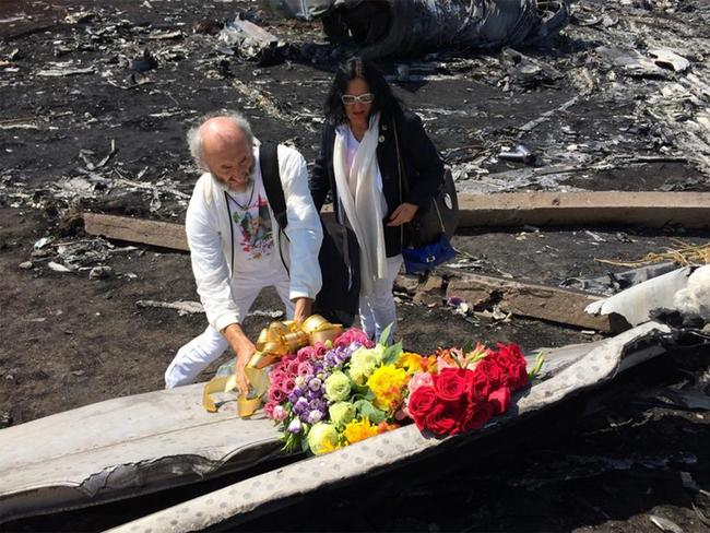Crash site ... Dr Jezy Dyczynski and Angela Rudhart-Dyczynski have been on a rollercoaster of extreme emotions since news their daughter Fatima was on flight MH17. Picture: Corinne Seminoff
