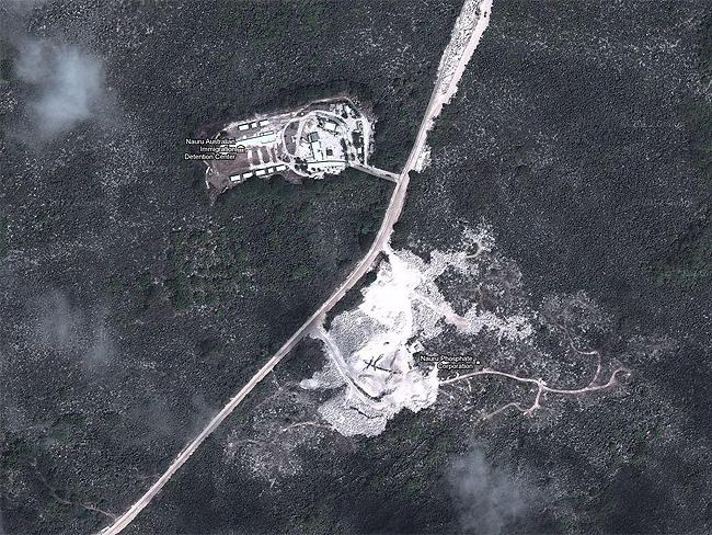 Top Secret sites: Nauru offshore detention centre in the Pacific Ocean. Source: Google Earth