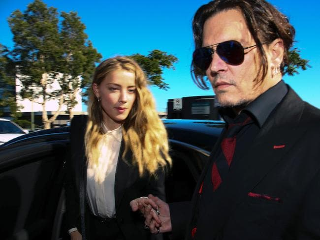 During divorce proceedings Johnny Depp's ex-wife Amber Heard accused him of being physically violent. Picture: AFP/Patrick Hamilton