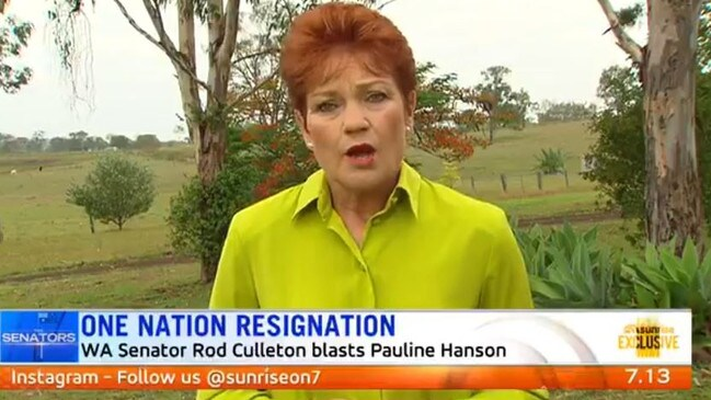 Hanson has defended herself on Facebook since the appearance.