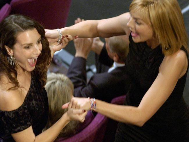 Kristin Davis, left, and Kim Cattrall. Picture: Supplied