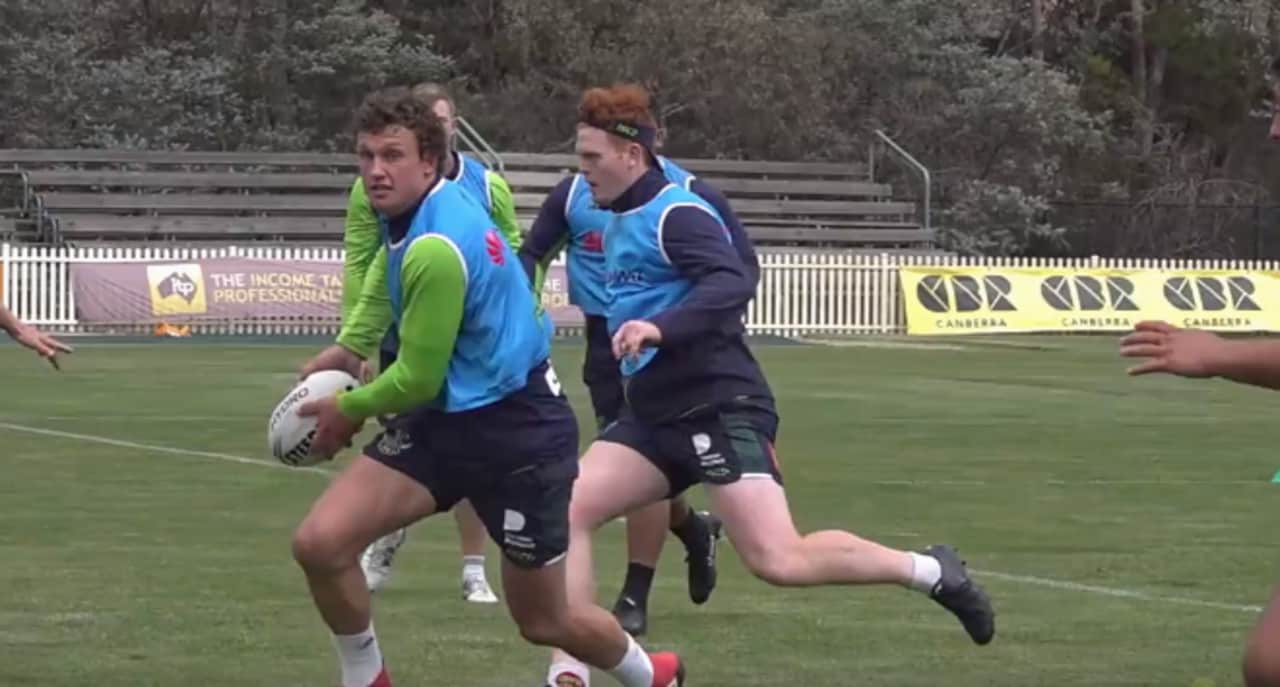 Jack Wighton returns to training after rocky end to 2018 season. Pic: Raiders media