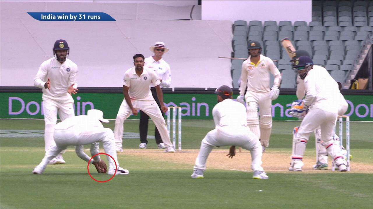 The final moment of the first Test in Adelaide.