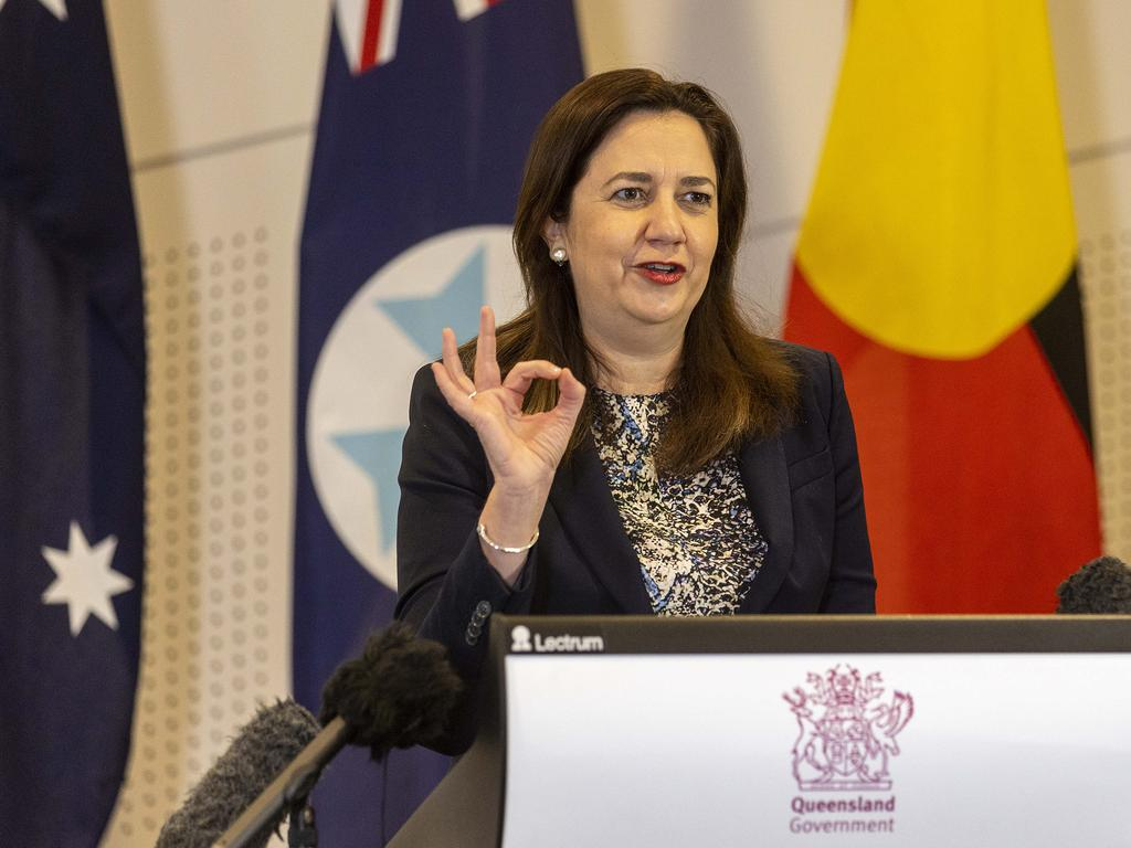 Queensland premier Annastacia Palaszczuk warned residents in regional parts of NSW to 'come home now'. NCA NewsWire / Sarah Marshall
