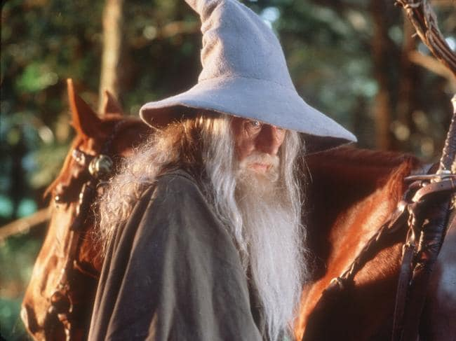 "Sir Ian McKellen as the wizard Gandalf, in a scene from the film ""The Lord of the Rings: Fellowship Of The Ring""."