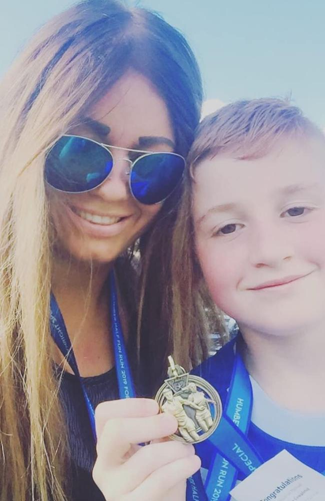 The mum-of-five explained her son was named after an Olympic running coach. Picture: Facebook