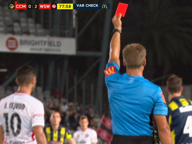 Another red card is awarded.