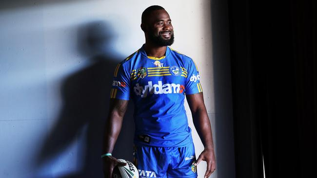 Portrait of Parramatta Eels cult hero Semi Radradra.