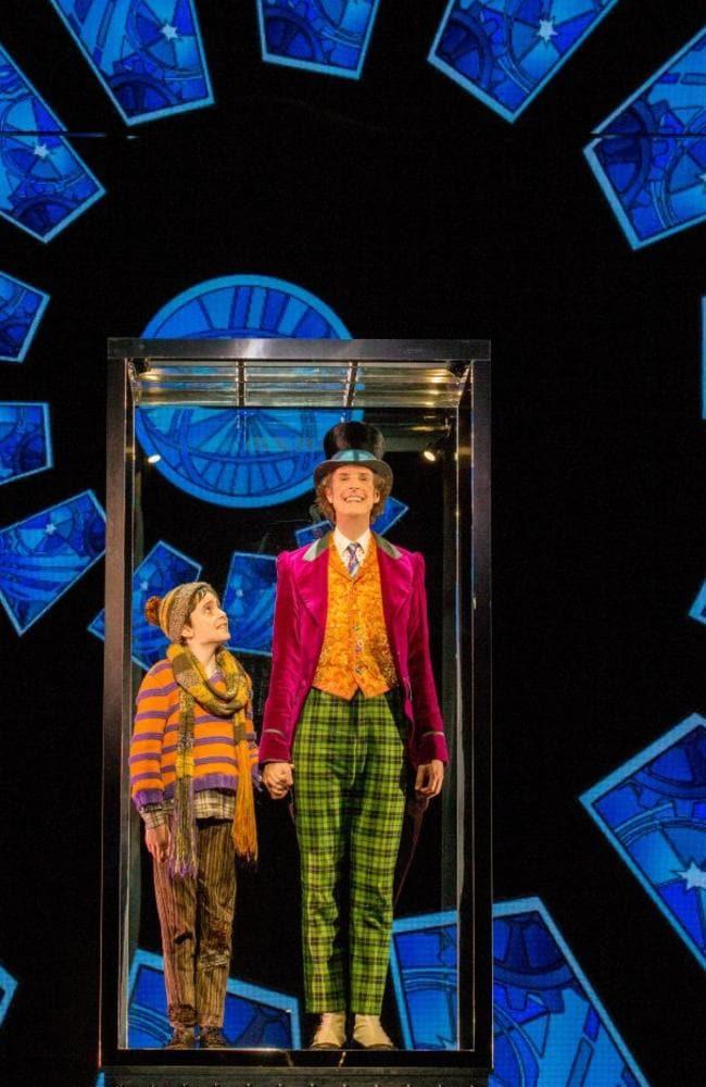 Ryan Yeates and Paul Slade Smith as Willy Wonka.