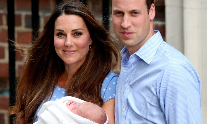 Not a hair out of place after the birth of Prince George. (Photo by Scott Heavey/Getty Images)