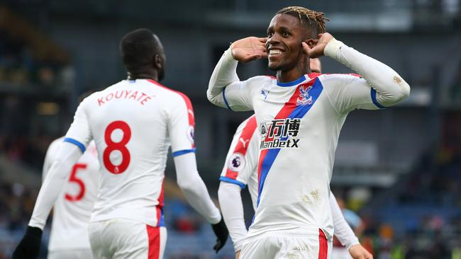 Wilfried Zaha of Crystal Palace celebrates