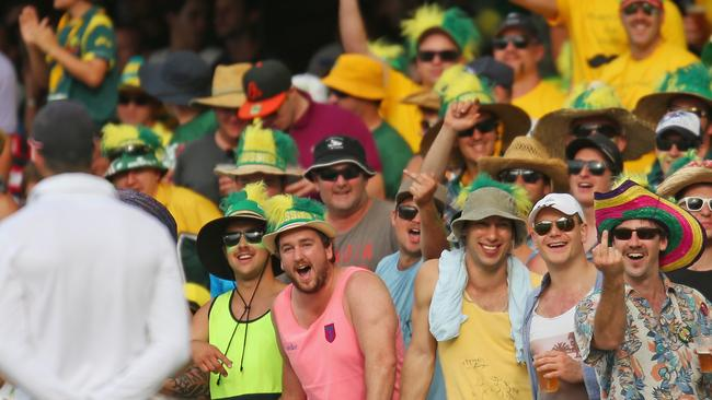 Members of the crowd gesture towards Kevin Pietersen during the 2013 Ashes. What could Ben Stokes expect if he tours?