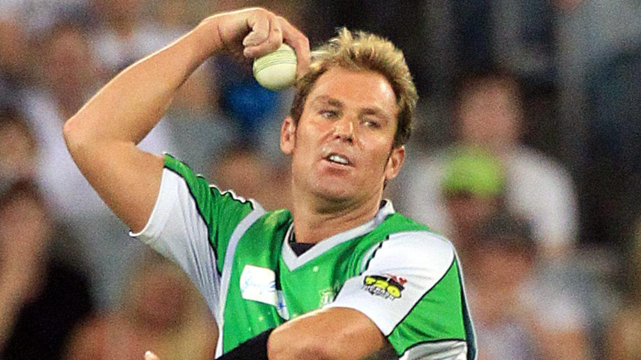 Shane Warne in action for Melbourne Stars during BBL02.