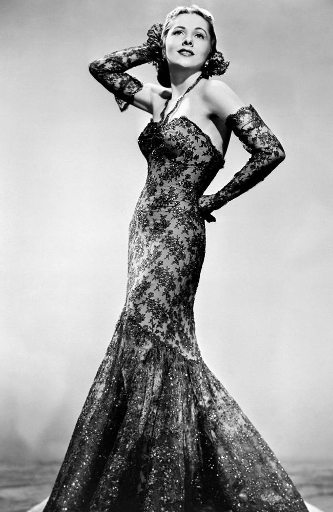 Fontaine looking every inch movie star glam circa 1945. Picture: AP