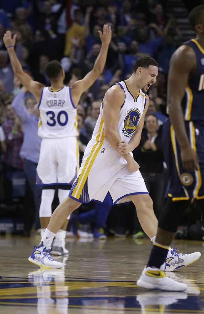 Klay Thompson had Stephen Curry pumped with his epic performance.